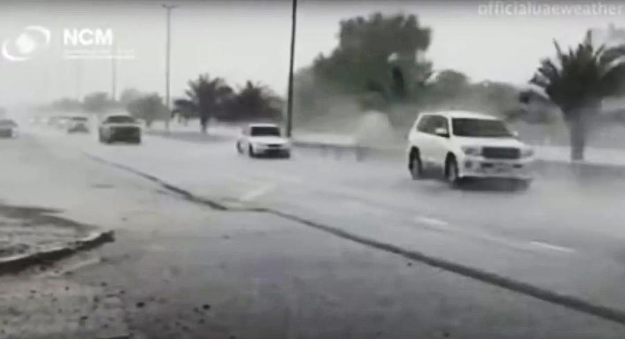 Dážď v Dubaji nie je veľmi obvyklý.