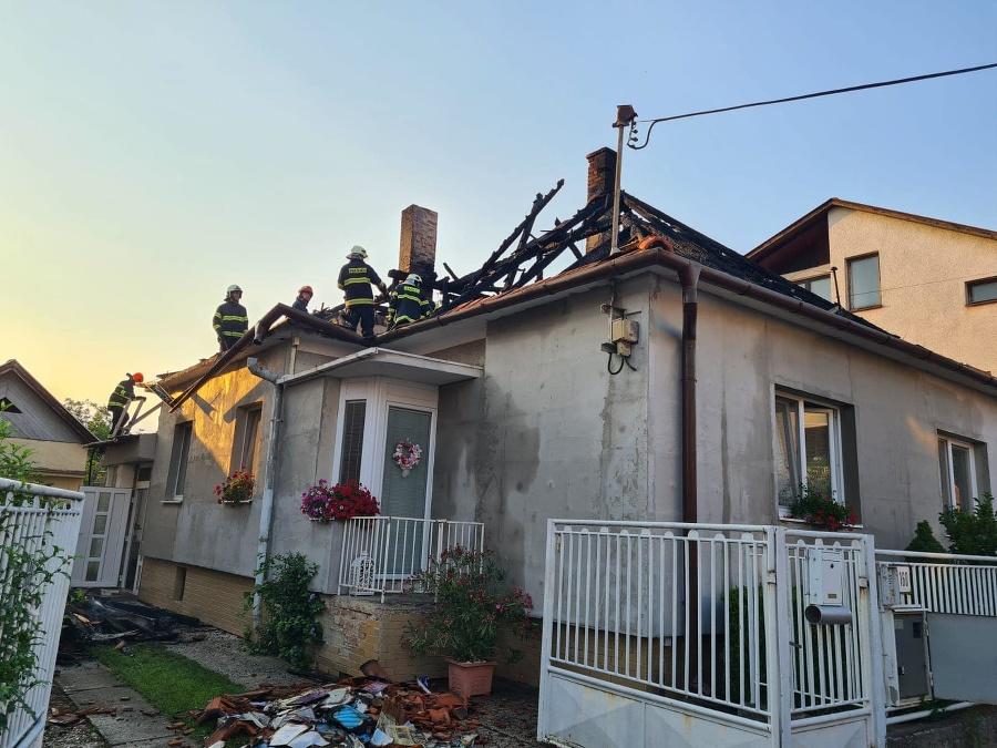 Požiar rodinného domu v