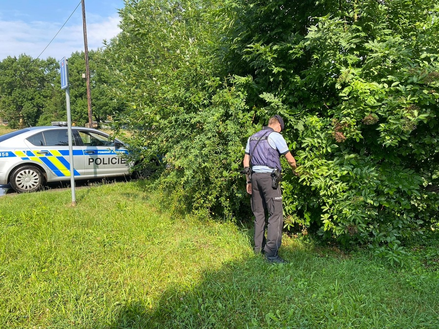 Policajti prehľadávali okolie i záhrady okolitých domov.