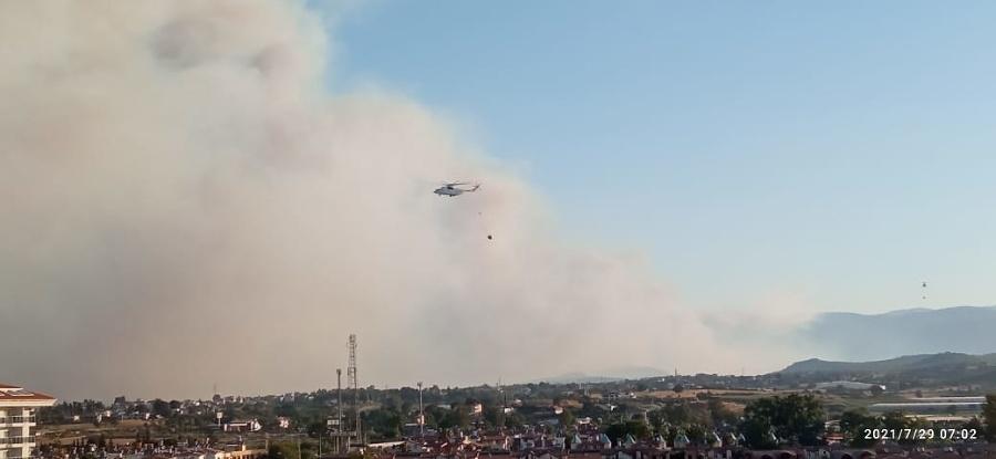 Pri čitateľovom letovisku naberajú vodu na hasenie požiarov.