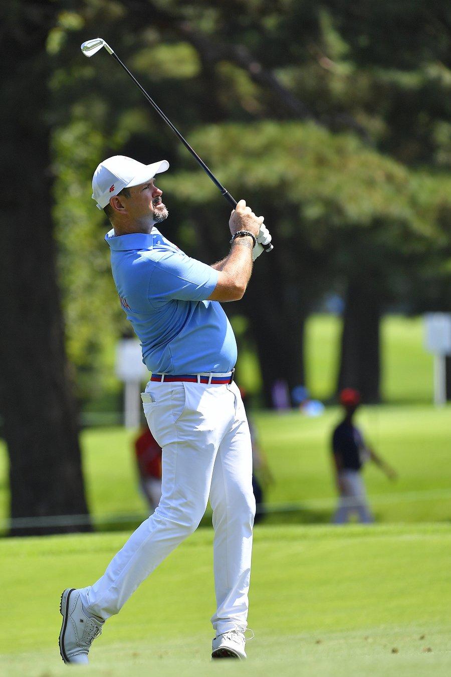 Na snímke slovenský golfista