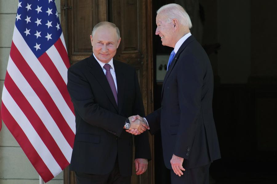 Putin a Biden sa