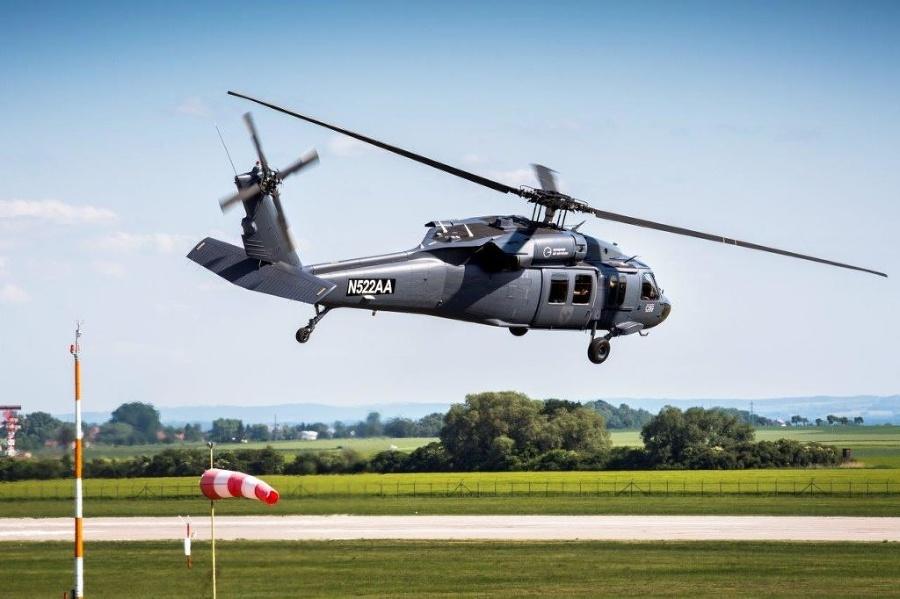 Piloti sa v Košiciach učili lietať na strojoch Black Hawk od spoločnosti Sikorsky.