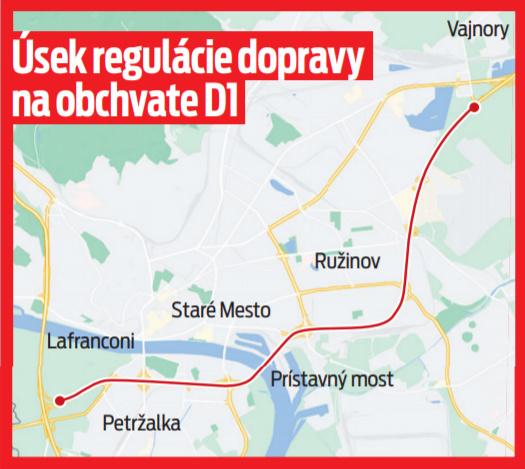 Úsek regulácie dopravy na obchvate D1