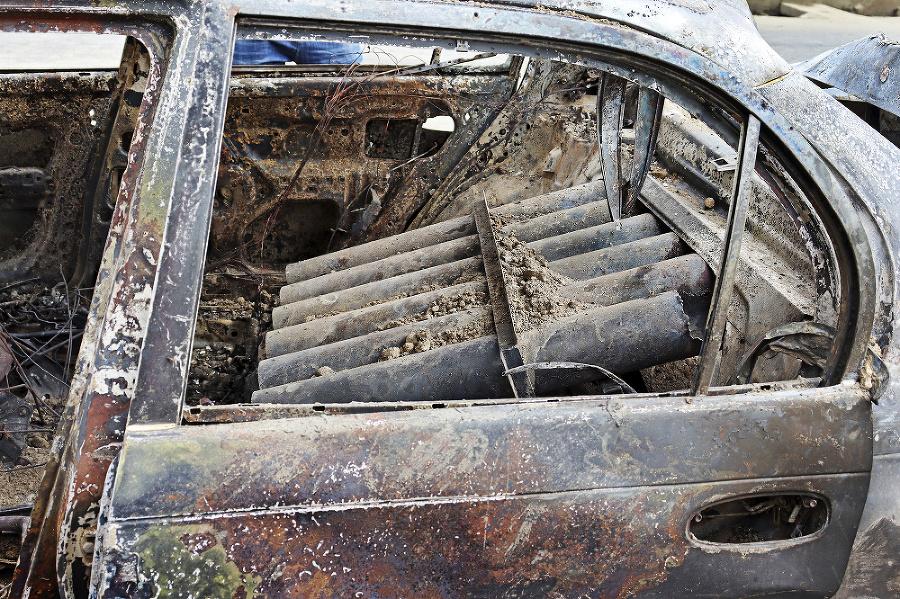 Auto bolo naložené muníciou.