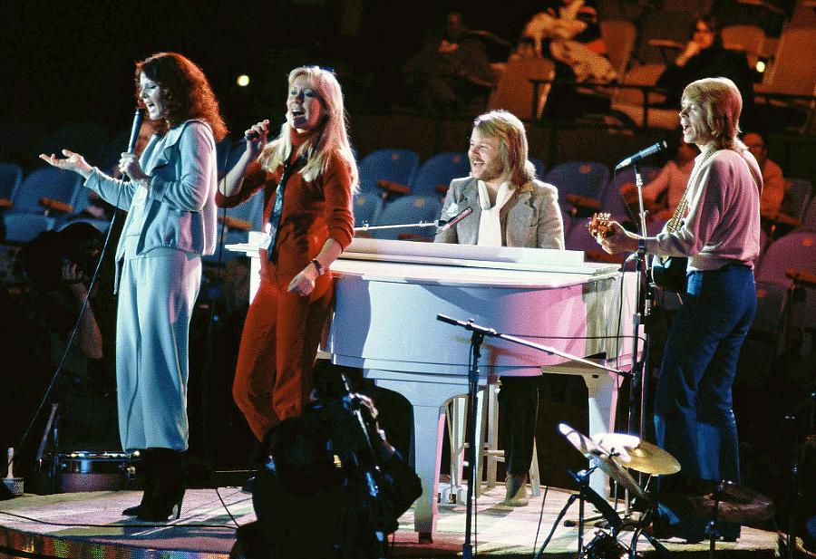 ABBA v časoch najväčšej slávy.