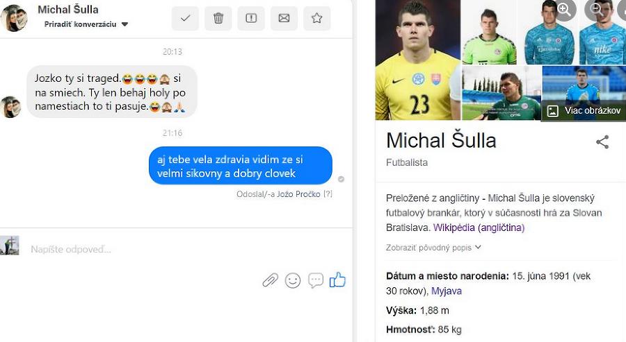 Futbalový brankár ŠK Slovan
