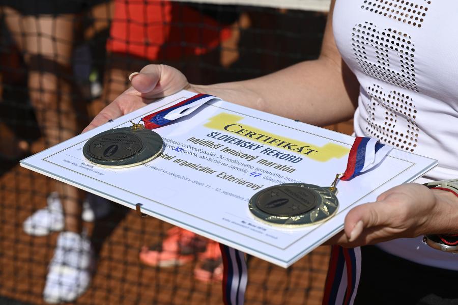 Certifikát za vytvorenie rekordu, 12. septembra 2021 v Handlovej.