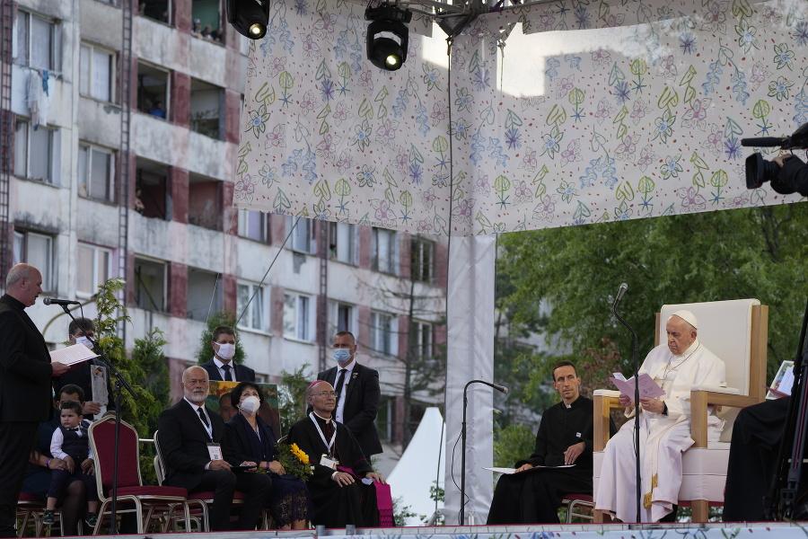 Pápež počas návštevy košického