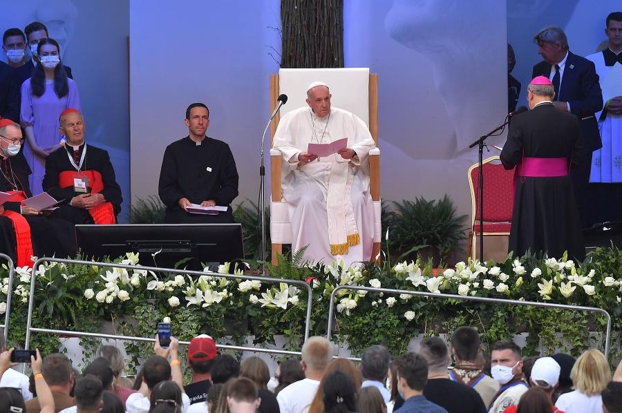 Pápež František počas návštevy