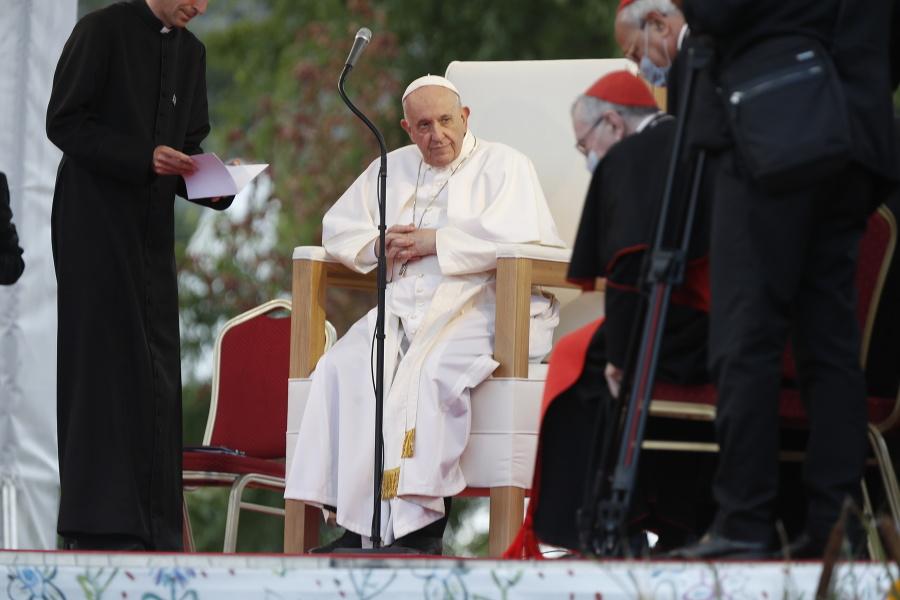 Pápež František na košickom