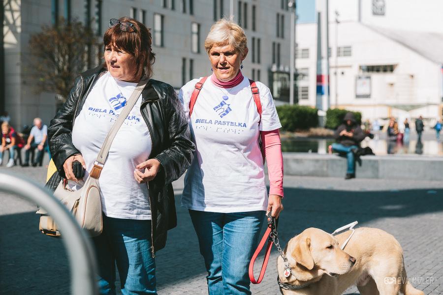24. septembra môžete v uliciach pomôcť nevidiacim a slabozrakým.