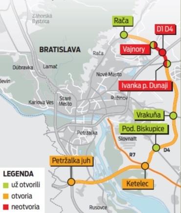 Otvoria bratislavský obchvat