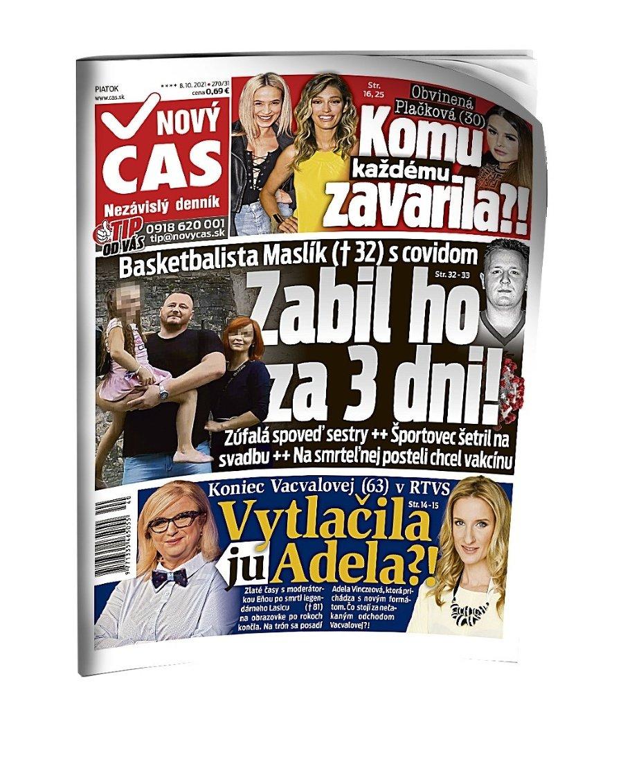 Nový Čas titulka.