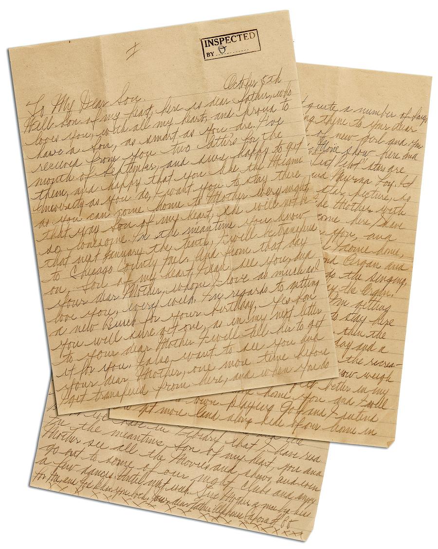 Osobné listy z Alcatrazu pre