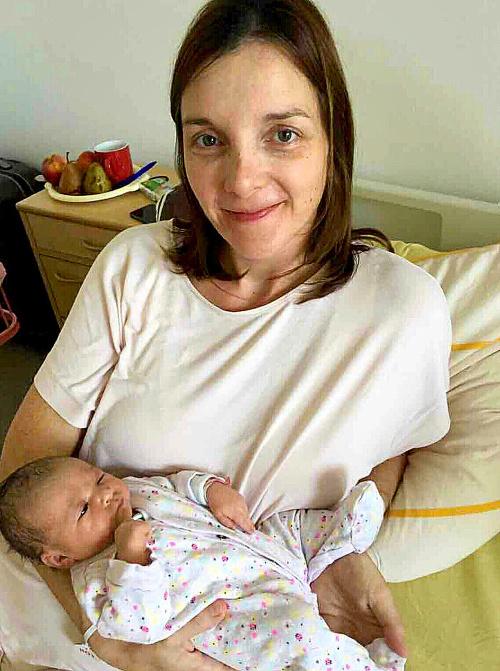 Mamička Katka (36) porodila