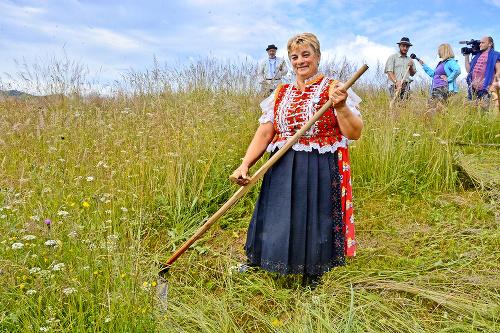 Slovenská šampiónka v kosení