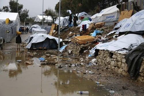Tábor na ostrove Lesbos