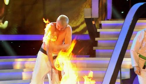 Martin bol kvôli ohňu