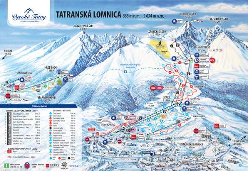 Mapa lyžiarskeho strediska.