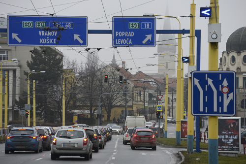 Križovatka ulíc Sabinovská, Levočská