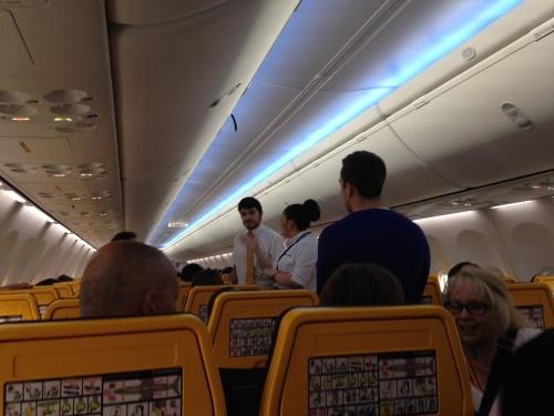 Patrick zažil v lietadle