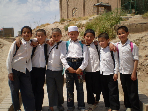 Školáci z afgánskeho mesta