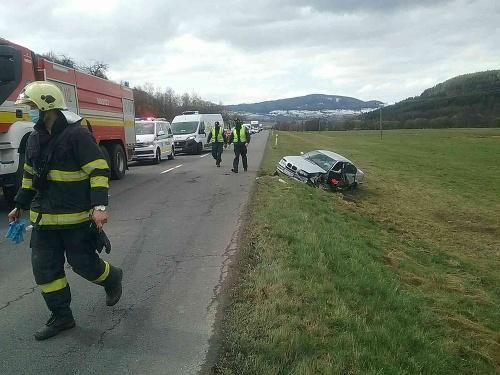 Havária pri obci Korytárky.