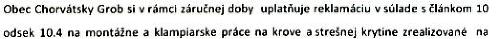 Požiadavka obce Chorvátsky Grob