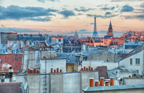 Cityscape of Paris at