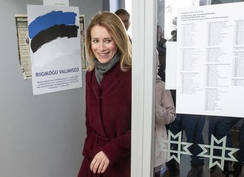 Premiérka Estónska Kaja Kalassová.