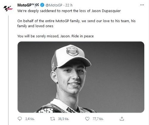 Jason Dupasquier na následky