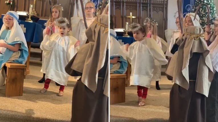 Z vianočnej omše urobila diskotéku: Tanečné kreácie malej Isabelly vyvolajú úsmev na tvári