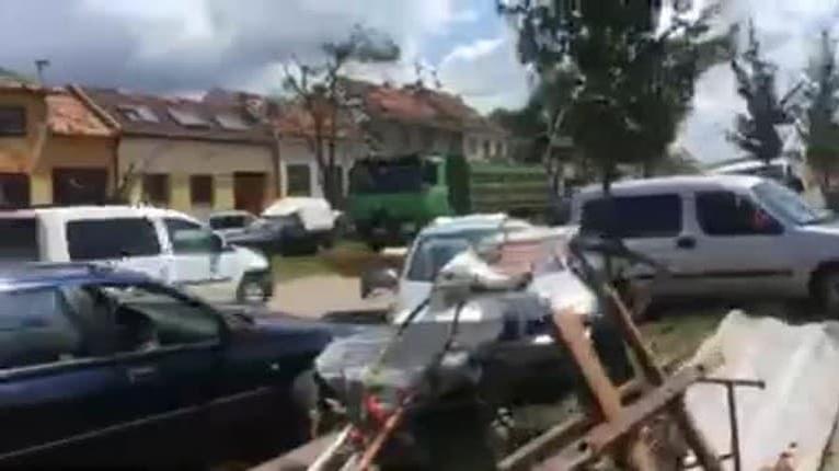 Pohroma v Česku: Tornádo v Moravskej Novej Vsi nivočilo