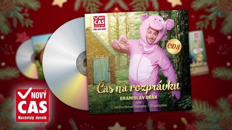 Čas na rozprávku: Rozprávky O medovníkovej chalúpke a Tri prasiatka načítal Branislav Deák