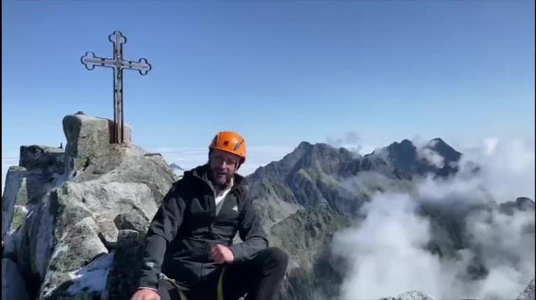 Ondrej Kandráč zvládol náročný výstup v Tatrách: Aha, kam sa vyštveral