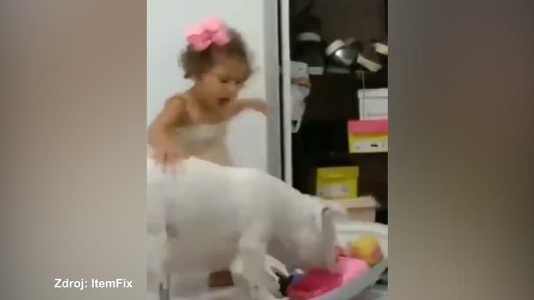 Pomsta býva sladká: Dievčatko pri hre uhryzol pes, malá slečna mu to takto vrátila