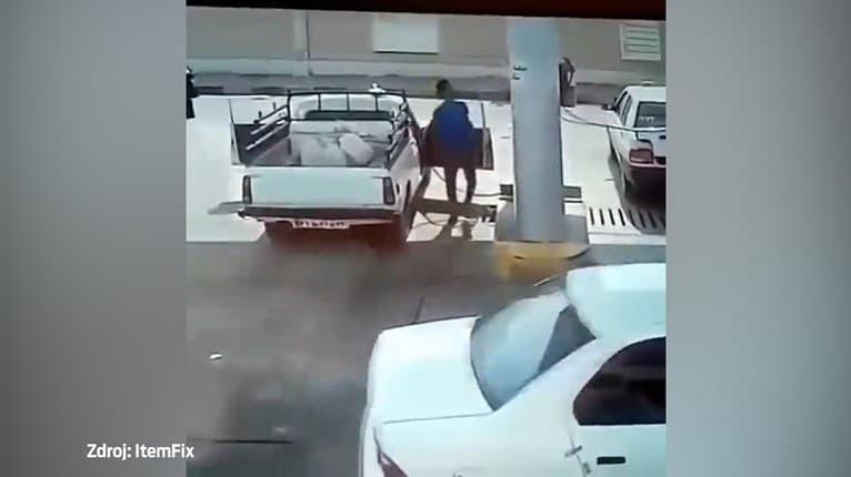 Mužovi počas tankovania LPG vybuchlo auto: Útek ako o život!