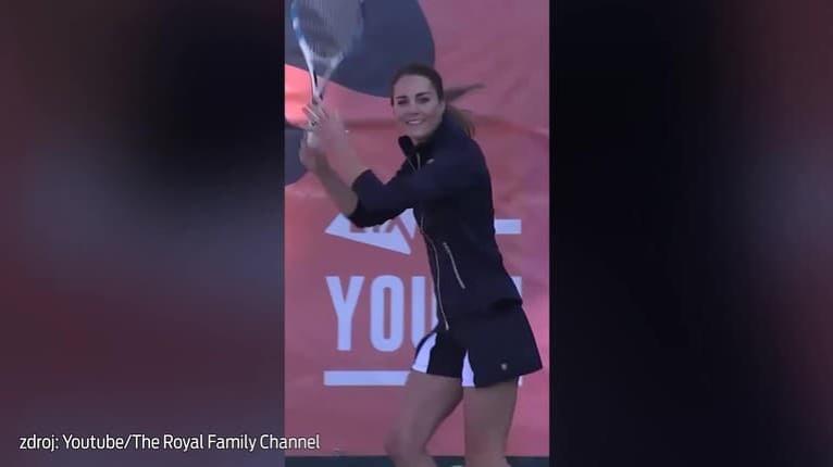 Vojvodkyňa Kate si zahrala aj proti senzačnej víťazke US Open Raducanuovej