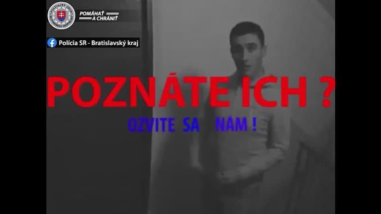 Majte sa na pozore! Polícia varuje pred mužmi na videu: Otrasné, čo si dovolili v bratislavských bytovkách